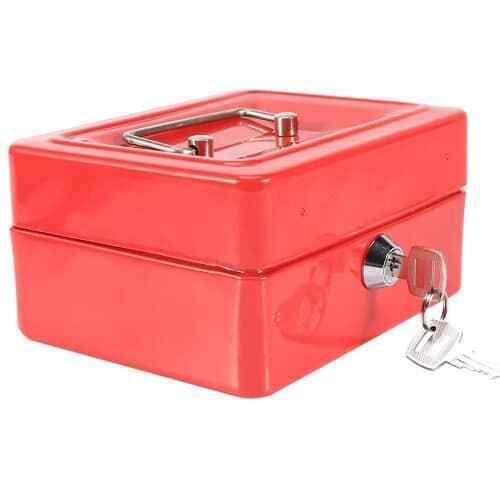 Caja fuerte metalica portatil caudales grande Rojo