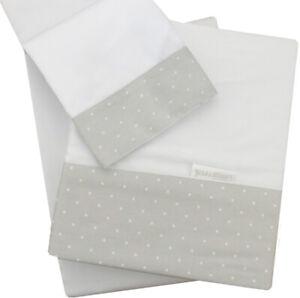 Kidz-Kiss-Petit-Dots-Premium-Cotton-3-Piece-Cot-Sheet-Set-Grey