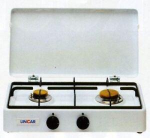 gaskocher campingkocher gasherd portable 2 flammig z ndsicherung lincar ebay. Black Bedroom Furniture Sets. Home Design Ideas