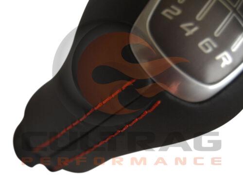2014-2019 C7 Corvette Genuine GM Manual Leather Shift Knob Torch Red Stitching
