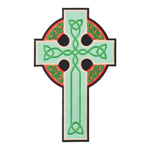 Irish Patches Green /& Gold Irish Celtic Cross Patch