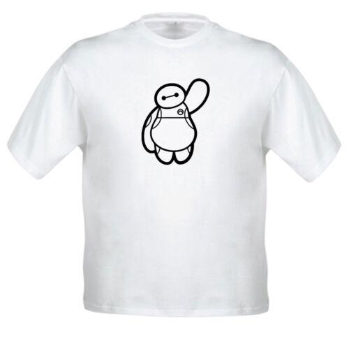 Disney Big Hero 6 Baymax Waving Funny Shirt Kids Boys Girl Youth Top Tee T-Shirt