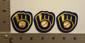 3-PCS MILWAUKEE BREWERS VINTAGE EMBROIDERED PATCH