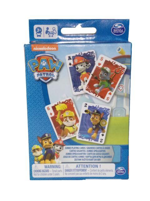 Paw Patrol - 6033298 Spielkarten JUMBO Nickelodeon extra große Karten Kinder Neu