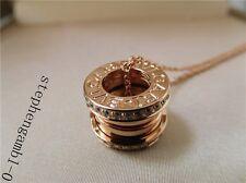Bvlgari B-zero1 Rose Gold 18k Necklace diamond 45.5cm authentic