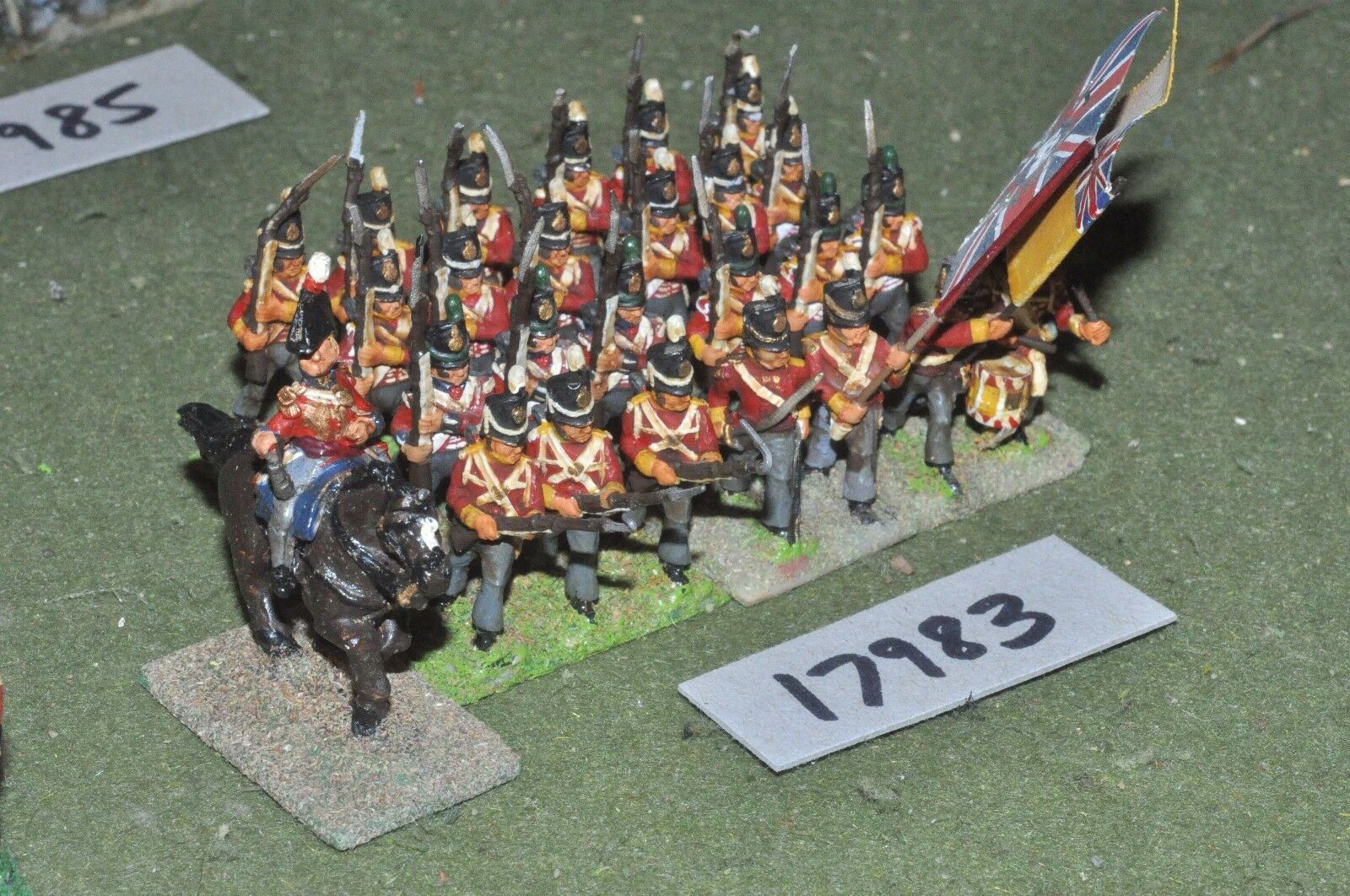25mm napoleonic   british - infantry 25 figs - inf (17983)