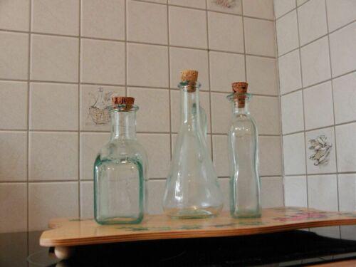 3x Karaffen für Essig, Öl oder Likör // aussergewöhnliche Formen