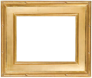 9 X 12 Picture Frame Hand Applied Gold Leaf Finish Gallery Style