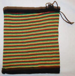 New Striped Hippy Acrylic Fleece Scarf Fairly Traded India Ethnic Boho