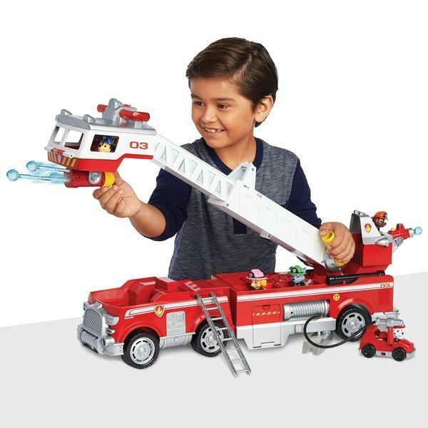 Paw Patrol Ultimate Fire Truck Playset Marshall Car Toy Fun Kids Gift Vehicle
