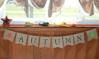 Autumn Burlap Banner/garland Thanksgiving Fall Autumn Holiday Decoration