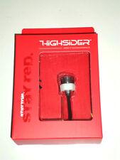 HIGHSIDER LED-Rücklicht MONO (mini, klein) Durchmesser 18mm Chrom, E-geprüft.