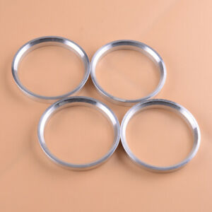 4Pcs Aluminum Wheel Spacer Hub Centric Rings 66.1mm OD to 64.1mm ID Decoration