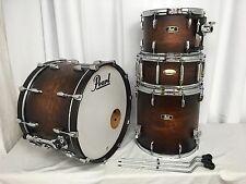Pearl Wood/Fiberglass 4 Piece Drum Kit/Finish #327/SATIN COCOA BURST/RARE!/New