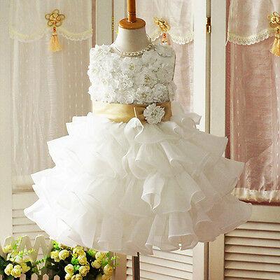 Girl Sleeveless Chiffon Dress Party Wedding Toddler Kid Princess Flower Girls