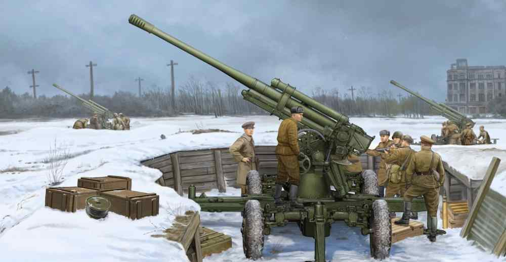 02341 Trumpeter 1 35 Model Soviet 52-K 85mm Air Defense Gun M1939 Static