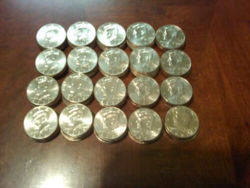 20 =one roll 1976 D JFK Kennedy Half Dollars ALL XF-BU BICENTENNIAL Lot