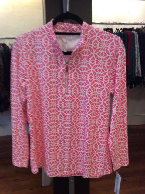 XS Zippered Collar Lulu B Top UPF 50 Retail $69