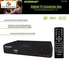 Digital TV Converter Box Analog To Digital HDTV USB DVR Recording Remote Control
