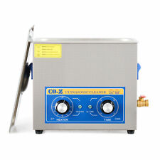 180w Co Z Ultrasonic Cleaner With Heater And Timer 6l Sonic Cavitation Machine