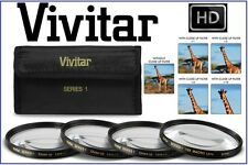 +1/+2/+4/+10 4Pcs Close Up Vivitar Lens For Samsung NX10 (50-200mm Lens)