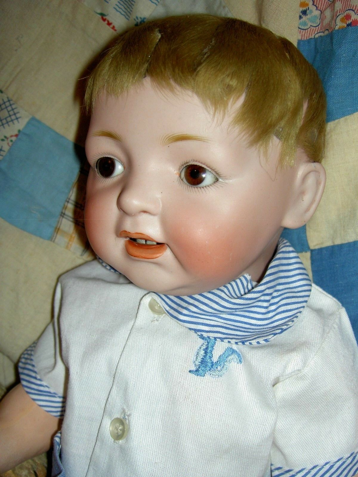 Delightful antique bisque JDK Kestner 211 SAMMY char. baby doll, excellent cond.