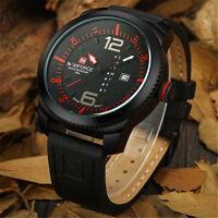 Naviforce Fashion Men Sports Genuine Leather Date Analog Quartz Wrist Watch NEW