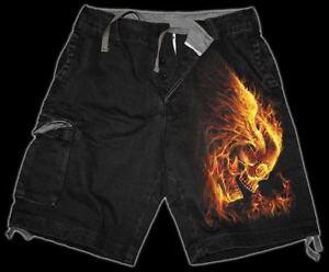Shorts-Burn-in-Hell-spiral-Gothic-Shorts-Skull