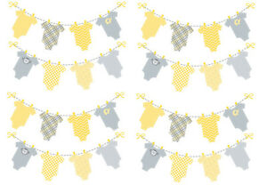 Baby Washing Line Clothes Bunting Edible A4 Icing Sheet