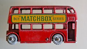 LESNEY-MATCHBOX-BUS-londres-N-5-Bel-etat-Annees-60
