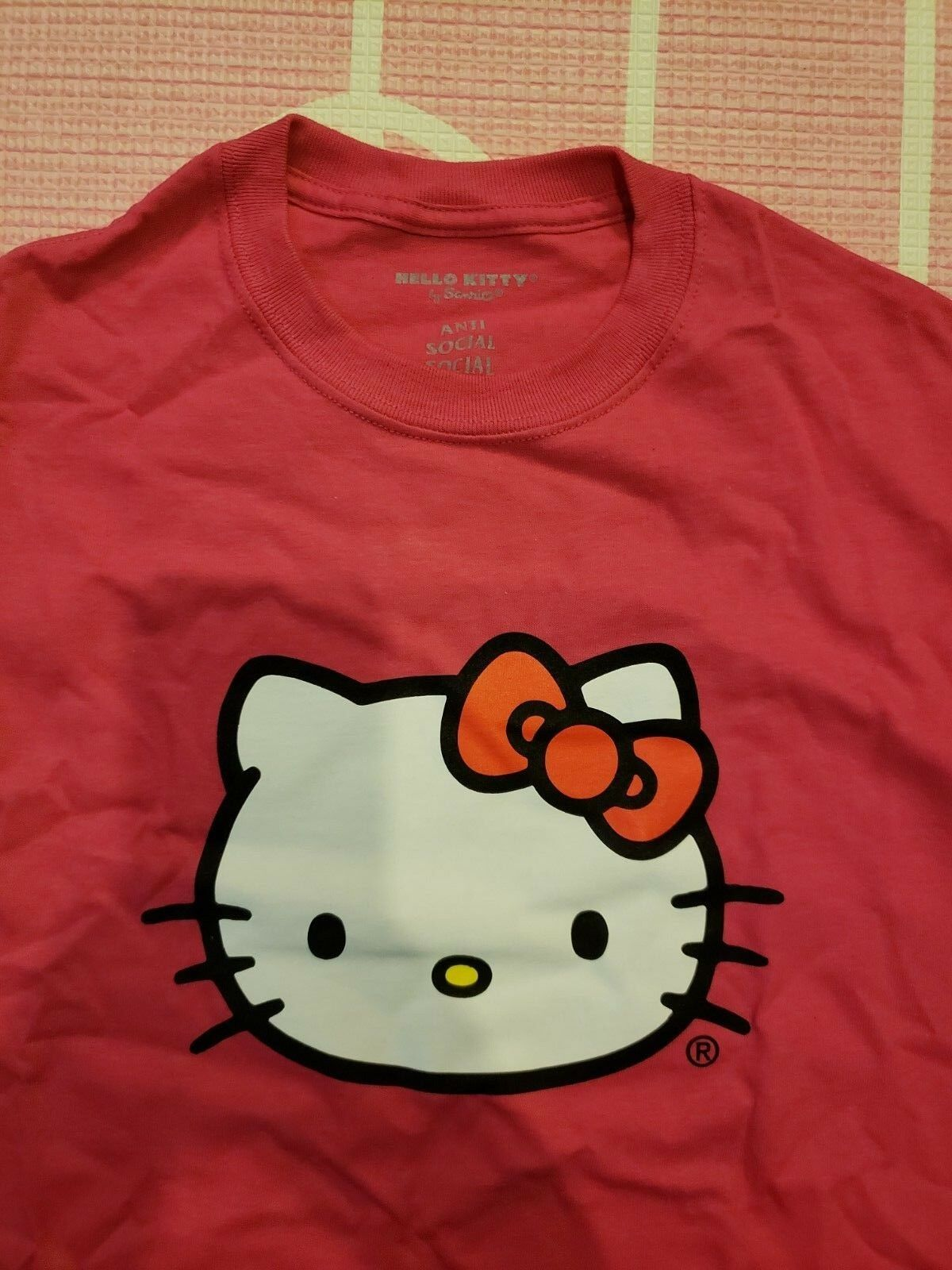 Anti Social Social Club ASSC Hello Kitty Tee Shirt FW18 SOLD OUT IN HAND New S