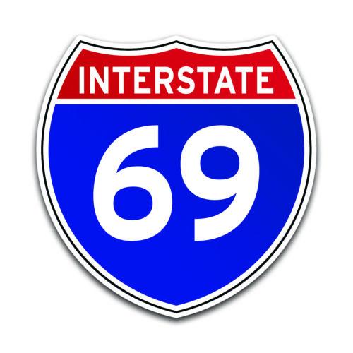 Interstate 69 Sign Decal Sticker Interstate Highway Road Travel Driving