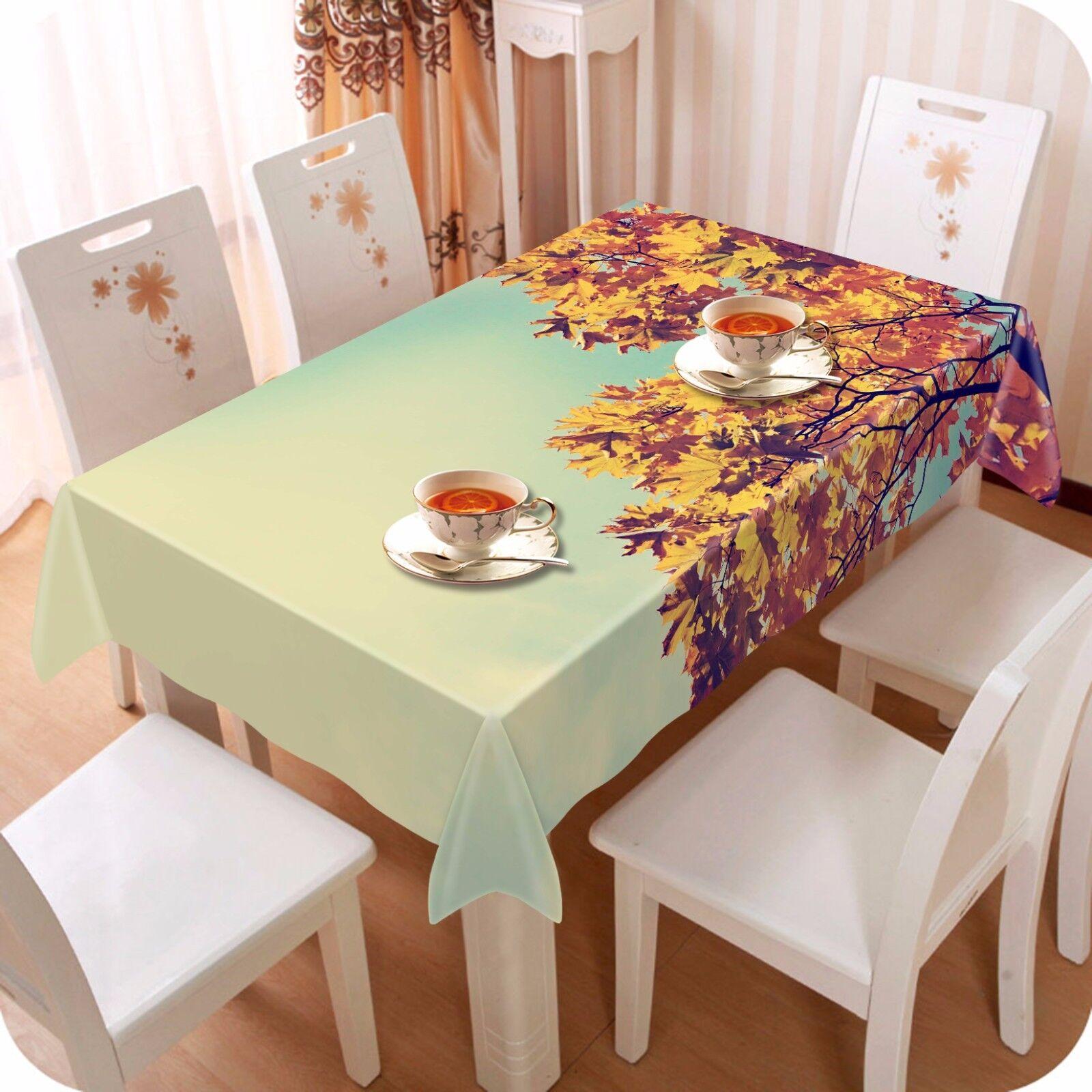 3D Feuille ciel Nappe Table Cover Cloth fête d'anniversaire AJ papier peint Royaume-Uni Citron