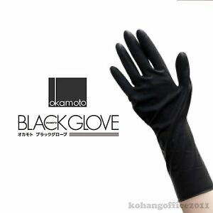 2x Okamoto black gloves Professional Protective 2 Pair For Hair ...