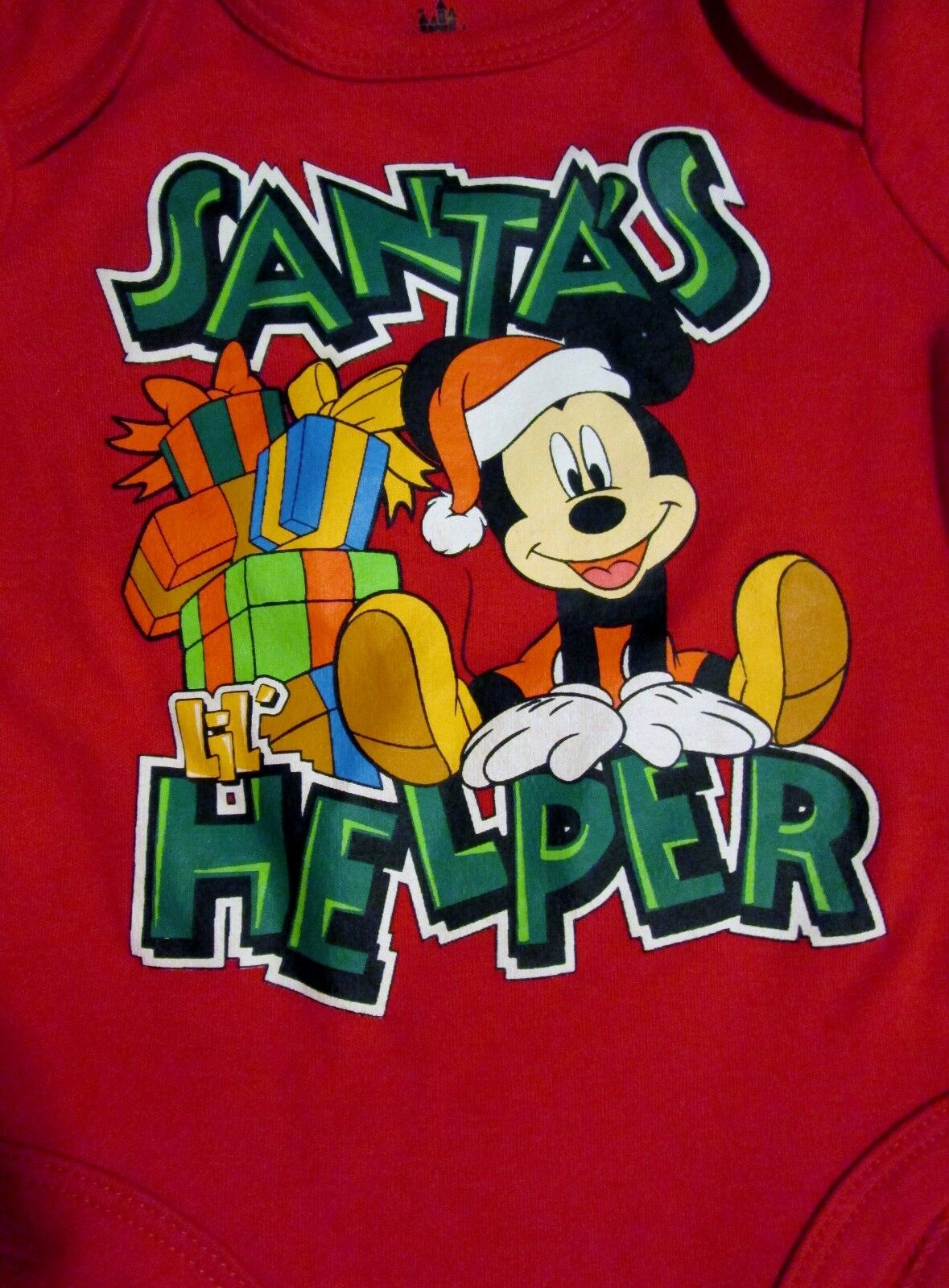 Disney Mickey Mouse Santas Little Helper Christmas Baby Boys Carters 3 Pieces Orange Norton Secured Powered By Verisign