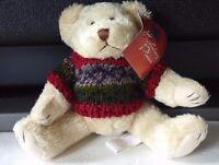 Vintage 1988 Chrisha Playful Plush 7 Christmas Holiday Dressed Teddy Bear