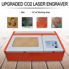 Usb 40w Co2 Laser Engraving Cutting Machine Laser Engraver Cutter 12x8 Inches