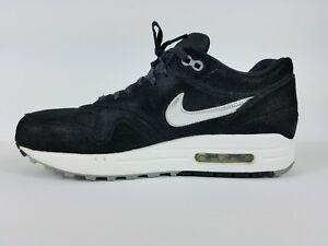 65aa45681f Nike WMNS Air Max 1 Premium Black/Metallic Silver-White-Silver Sz. 9 ...