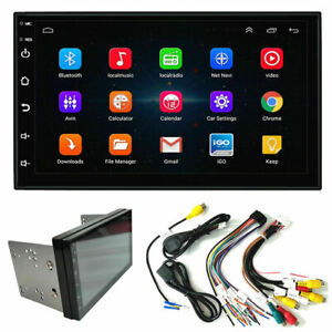 """Android 9.1 Double Din 7"""" Car Stereo Radio GPS SAT NAV Touch Screen WIFI UK Maps"""