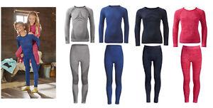 Kinder Thermo Unterwäsche Funktionswäsche Ski Wäsche Unterhose Langarmhemd