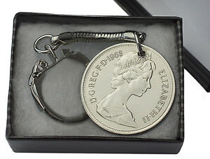 10P-OLD-STYLE-COIN-KEYRING-CHOICE-OF-DATE-1968-1981-BIRTHDAY-PRESENT-GIFT