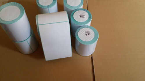 """4 rolls 4/""""x 6/""""Zebra Direct Thermal shipping labels 250//roll*free expedited ship*"""