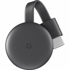 Google Chromecast (3rd Generation) Wireless Streaming Media Player, Charcoal charcoal chromecast google media streaming wireless