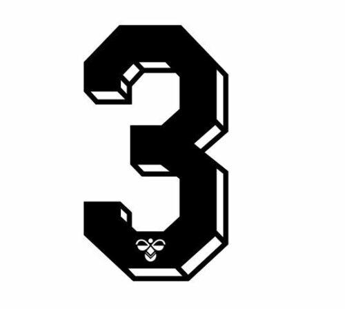 Hummel 1987-1990  Number Black Flock for Football Shirt Nameset