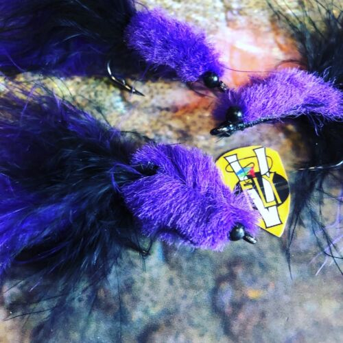 3 V Fly Size 4//0 Specialist Purple Death Tarpon Toad Ultimate Saltwater Flies