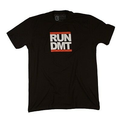 Run DMT Graphic Tee! Vintage T Shirt Screen Print! Trippy, Psychedelic, DMC Trip