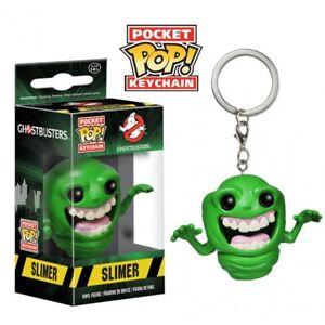 """GHOSTBUSTERS SLIMER 2/"""" Pocket pop Portachiavi Figura in Vinile Funko UK Venditore"""