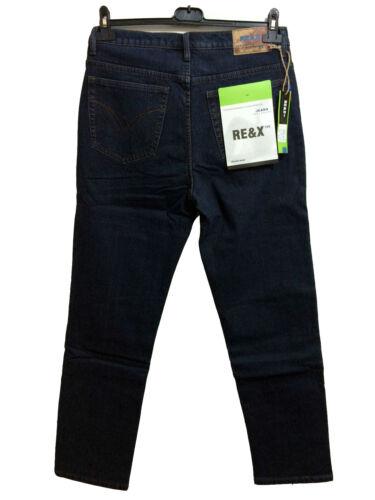 Pantaloni Jeans felpato Da Uomo Lungo E pesante Colore Nero Blu Vita Alta Comodo
