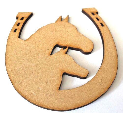 Regalo Caballo Potro y Herradura Caballo De Madera Mdf Craft forma caballo y malolientes