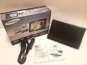 Samsung-10-034-Ultra-Thin-Mini-Monitor-1GB-Digital-Picture-Frame-SPF-107H-USED